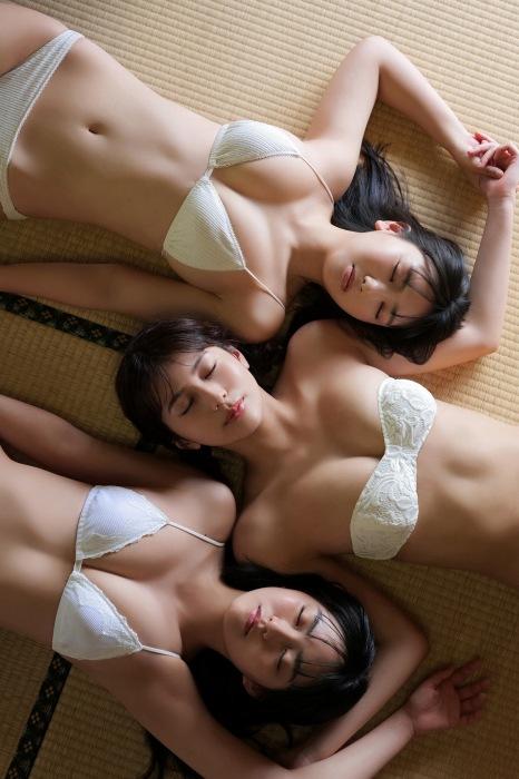 沢口愛華、豊田ルナ、新井遥の合同水着グラビアエロ画像010