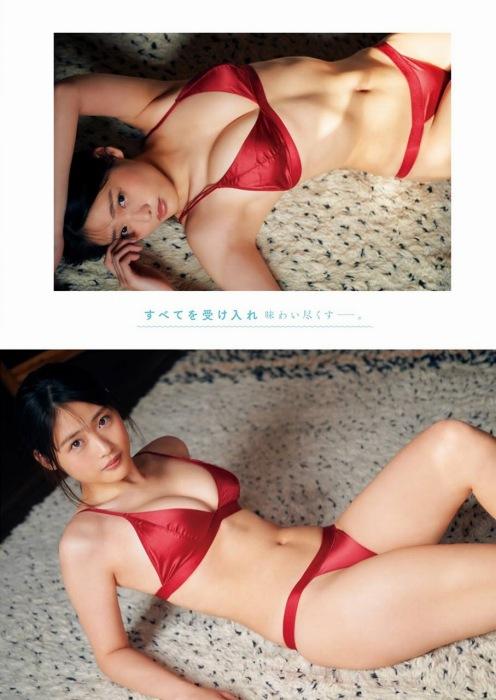 石田桃香の濡れ髪セクシ水着グラビアエロ画像009