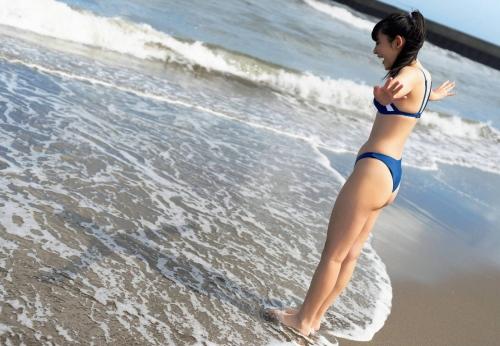 林田百加のハイレグ水着グラビアエロ画像003