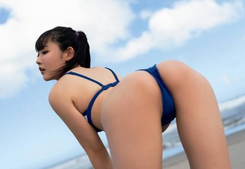 林田百加のハイレグ水着グラビアエロ画像004