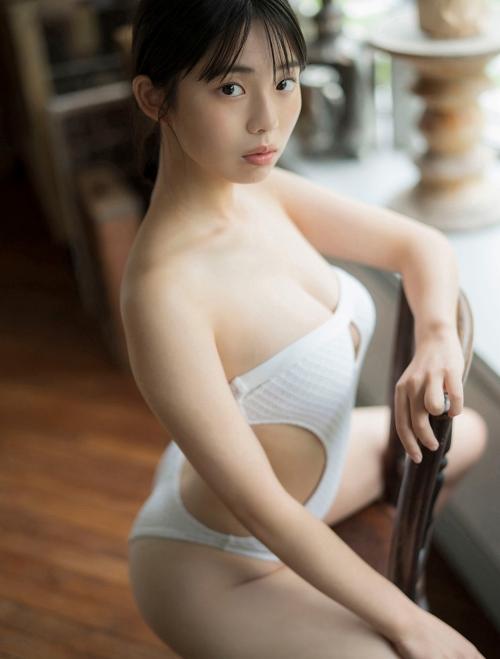 菊地姫奈の妄想水着グラビアエロ画像011