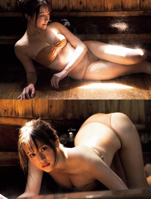 小日向ゆかの温泉グラビアエロ画像006