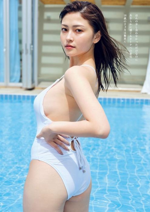 櫻井音乃のハミ乳おっぱい水着グラビアエロ画像003