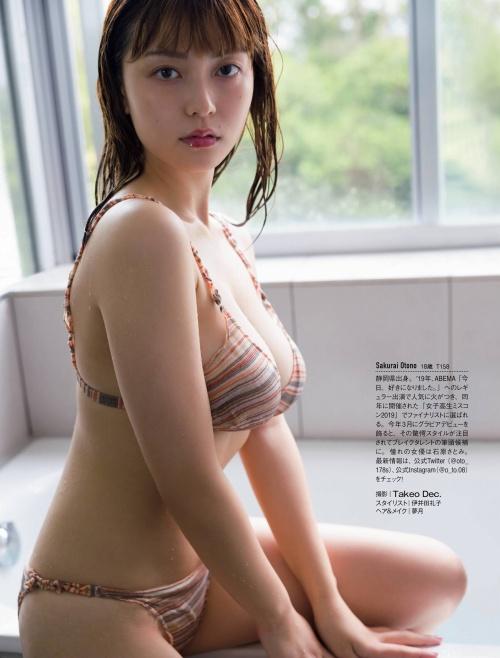 櫻井音乃の巨乳水着グラビアエロ画像009