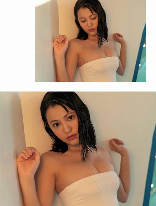 鈴木聖の水着グラビアエロ画像011