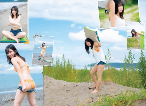 沢口愛華の胸チラ水着グラビアエロ画像007
