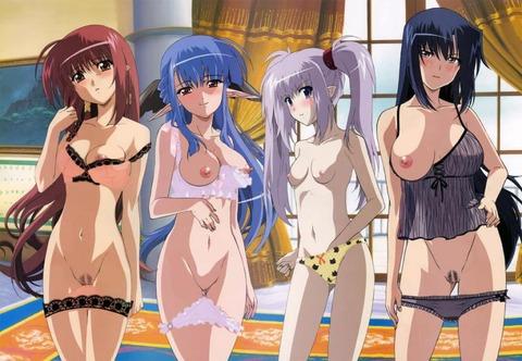複数の女の子が全裸になってるwww★2次元複数全裸エロ画像(`・ω・´)・4枚目の画像