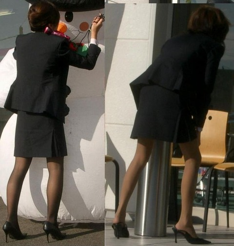 【盗撮】働く女は危険が多い★ワーキング女子のパンチラエロ画像 m9(`・ω・´)・10枚目の画像
