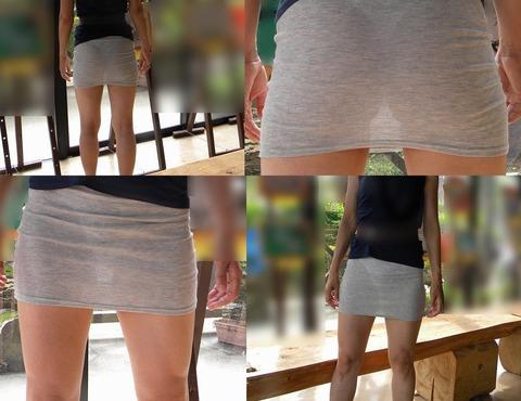 これパンツ見せてるっしょってくらい透けてるwwww★素人透けパン街撮りエロ画像・11枚目の画像