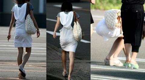 これパンツ見せてるっしょってくらい透けてるwwww★素人透けパン街撮りエロ画像・5枚目の画像