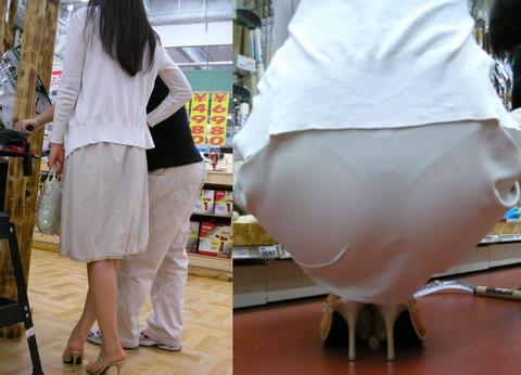 パンツが柄までしっかり透けて人目に晒されてるんですがwwwwwww★素人街撮りエロ画像・14枚目の画像
