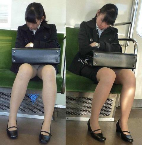 残業して帰宅中の素人OLさんは電車内パ○チラ盗撮エ□画像30枚