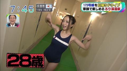 【放送事故】素人(28歳)が競泳水着姿でおっぱいサイズにお尻丸見えwwwwwwww(エロキャプ画像あり)・7枚目の画像